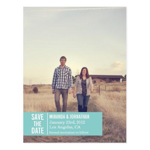 Spara för blåttbanerfoto dateravykorten vykort