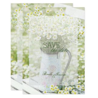 SPARA för blomma för Summerfield daisyCamomile 12,7 X 17,8 Cm Inbjudningskort