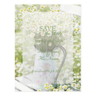SPARA för blomma för Summerfield daisyCamomile Vykort