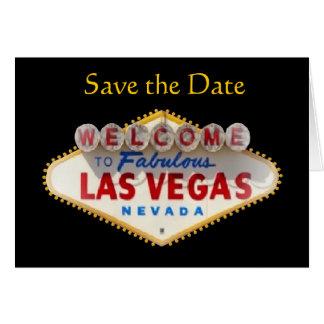 Spara för den Las Vegas för datera det nya kortet Hälsningskort