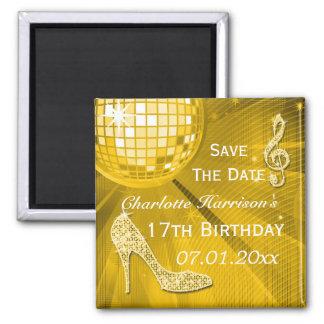 Spara för födelsedag för Sparkly stiletthäl 17th Magnet
