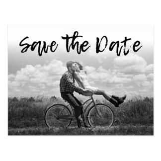 SPARA för fotobröllop för DATERA | de Cursive Vykort