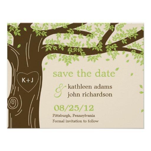 Spara för Oakträd daterakortet Anpassningsbara Inbjudningskort