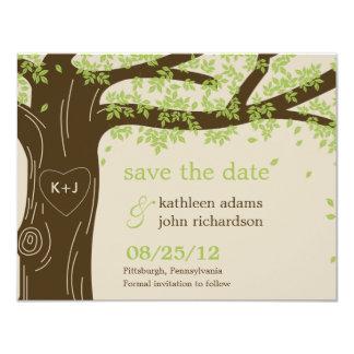 Spara för Oakträd daterakortet 10,8 X 14 Cm Inbjudningskort