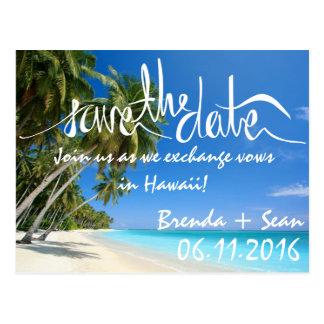 Spara för strand för vitSand tropisk Vykort