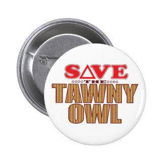 Spara för Tawny uggla Standard Knapp Rund 5.7 Cm
