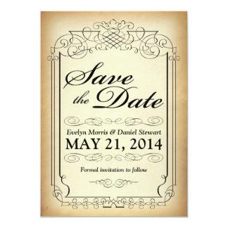 Spara för vintagestilrulla daterakortet 12,7 x 17,8 cm inbjudningskort