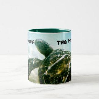 Spara havssköldpaddan Två-Tonad mugg