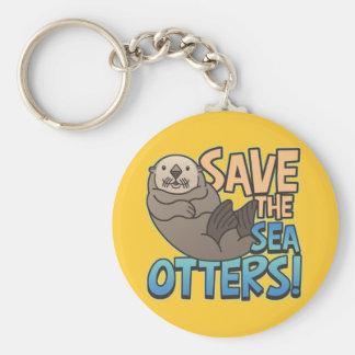 Spara havsuttrarna rund nyckelring