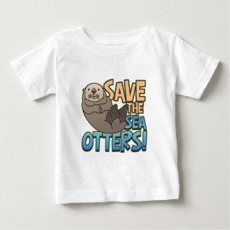 Spara havsuttrarna tee shirts