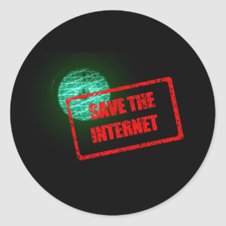 Spara internetklistermärkearna runt klistermärke