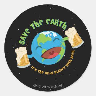 Spara jorden runt klistermärke