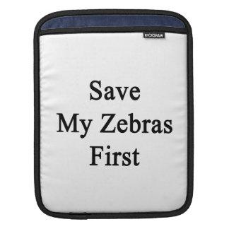 Spara min zebror första