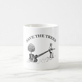 Spara muggen 2 för trädvintageillustrationen vit mugg