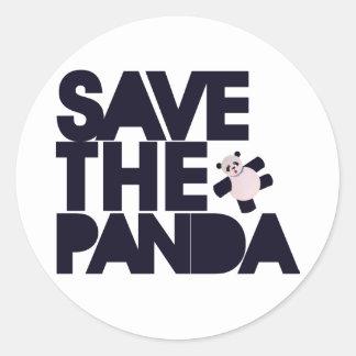 Spara Pandabjörnen Runt Klistermärke