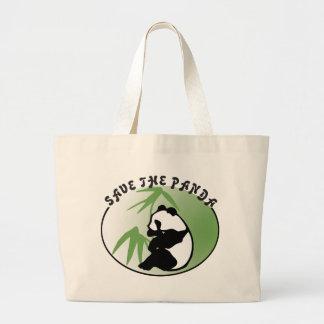 Spara Pandabjörnen som kanfas hänger lös Jumbo Tygkasse