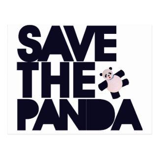 Spara Pandabjörnen Vykort