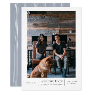 Spara personligen för bröllop för dateragrå 12,7 x 17,8 cm inbjudningskort