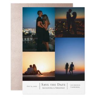 Spara personligen för dateraCollagebröllop 12,7 X 17,8 Cm Inbjudningskort