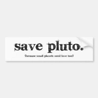 Spara Pluto Bildekal