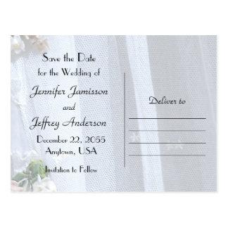 Spara snöret för meddelandet för vykort