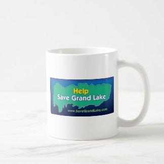 Spara storslagna sjömuggar och exponeringsglas kaffemugg