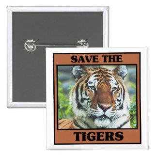 Spara tigrarna standard kanpp fyrkantig 5.1 cm