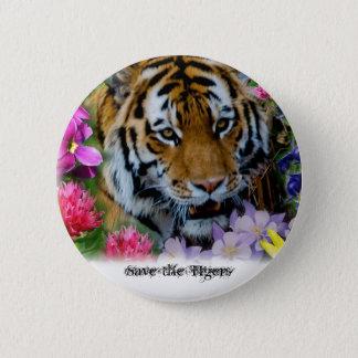 Spara tigrarna standard knapp rund 5.7 cm