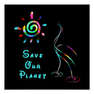 Spara vår planetaffisch poster