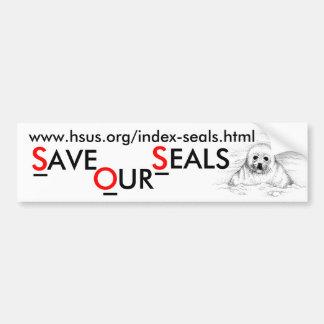 Spara vår sälar bildekal