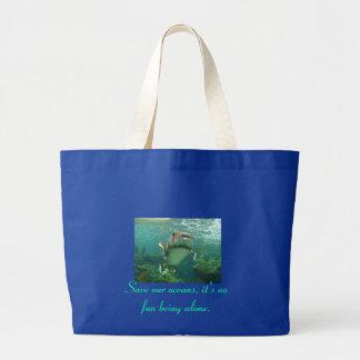 Spara våra hav som jumbon hänger lös jumbo tygkasse