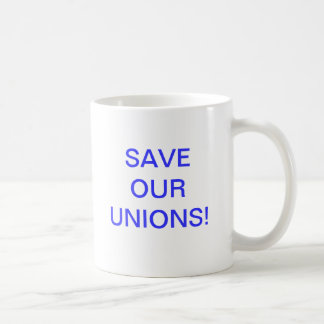 Spara våra unioner! kaffemugg