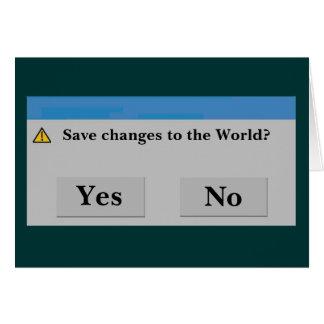 Spara världskortet OBS kort