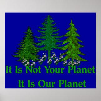 Spara vårt planet poster