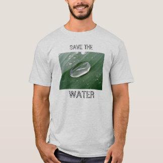 Spara vatten! t-shirts