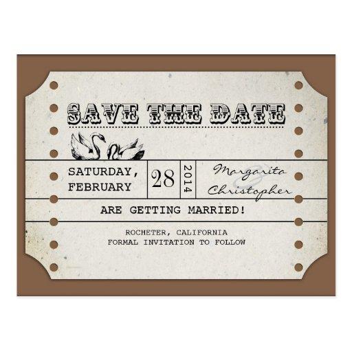 spara vykorten för dateravintagebiljetten vykort