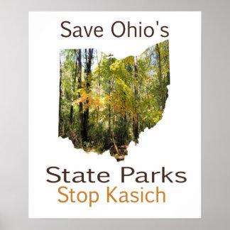 SparaOhio affisch för delstatsparkar