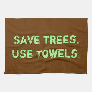 """""""Sparaträd. Använd handdukar. """"Kökhandduk Kökshandduk"""