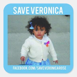 SparaVeronica-klistermärke Fyrkantigt Klistermärke