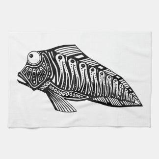 Sparkcykel fisken kökshandduk