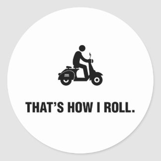 Sparkcykelridning Runt Klistermärke