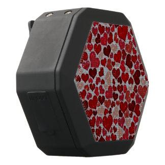 sparkling hjärtor som är röda svart bluetooth högtalare