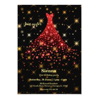 Sparkling kappa för diamant 12,7 x 17,8 cm inbjudningskort