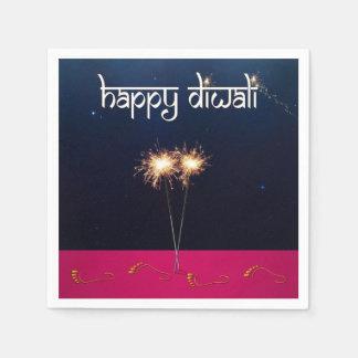 Sparkling lyckliga Diwali - Pappersservett