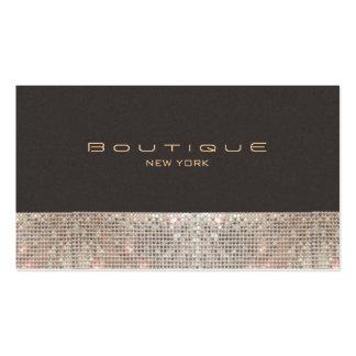 Sparkling Sequins för FAUX och SuedemodeBoutique Set Av Standard Visitkort
