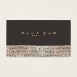 Sparkling Sequins för FAUX och SuedemodeBoutique Visitkort