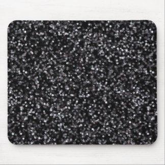 Sparkling svart glitter musmattor