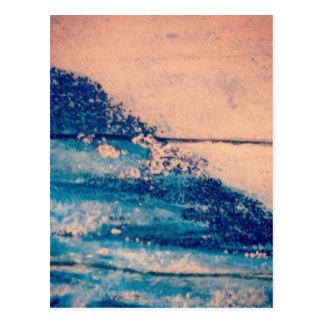 Sparkling vågardesign vykort