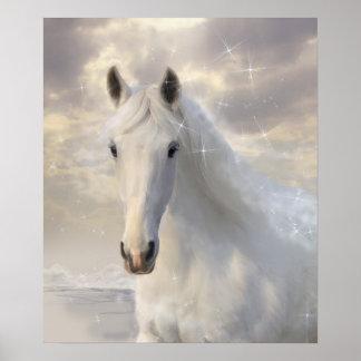 Sparkling vithästaffisch poster