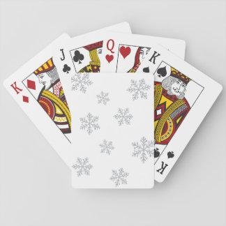 Sparkly Crystal snöflingor som leker kort Spel Kort